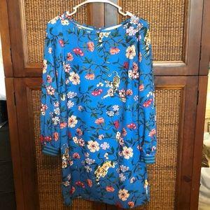 NWT cobalt blue tiger floral print dress 🐅 XS